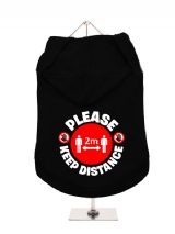 ''Please Keep Distance'' Dog Hoodie / T-Shirts