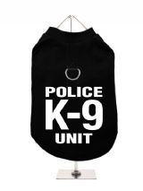 ''Police K-9 Unit'' Harness-Lined Dog T-Shirt