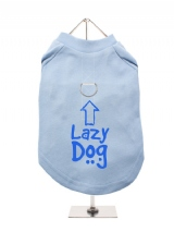 ''Lazy Dog'' Harness-Lined Dog T-Shirt