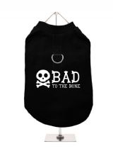 ''Bad To The Bone'' Harness-Lined Dog T-Shirt