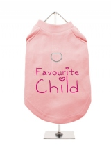 ''Favourite Child'' Harness-Lined Dog T-Shirt