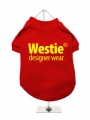 ''Westie Designer Wear'' Dog T-Shirt