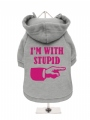 ''Im With Stupid'' Dog Sweatshirt